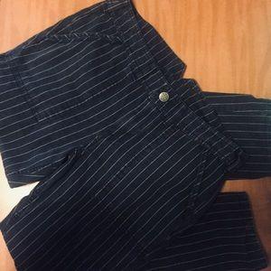 Free people navy pinstriped pants